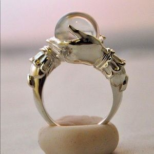 Crystal ball oracle ring